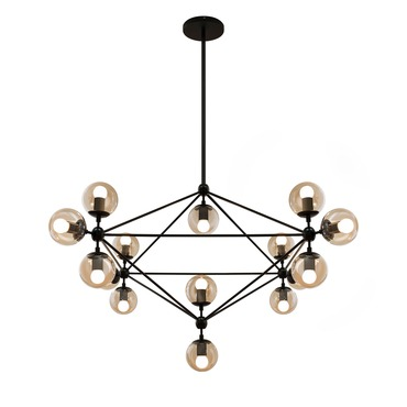 Bola Suspension by Edge Lighting | BOLA-S-10-SM-BK