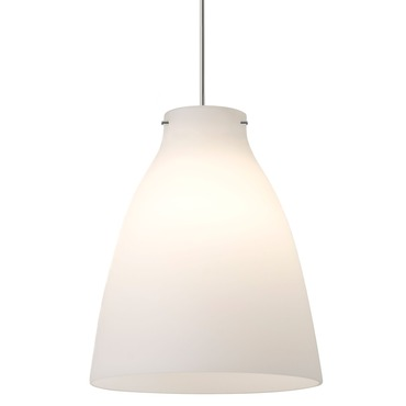 FJ Vessel Pendant by Edge Lighting | FJ-VESS-6-WHGL-12-SN