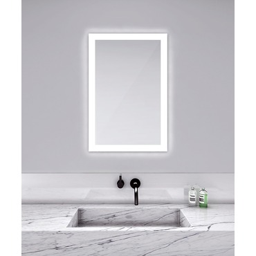 Bathroom Mirrors With Led Lights. Silhouette Rectangle Lighted Mirror