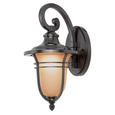 Amber Drop Outdoor Wall Lantern