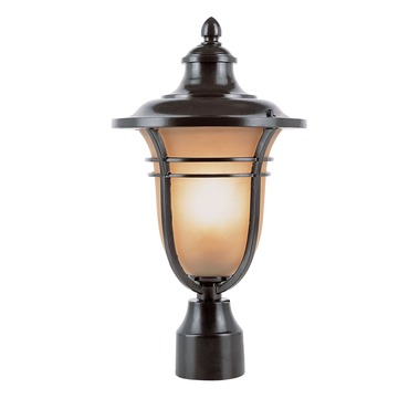 Amber Drop Outdoor Post Top Lantern by Trans Globe | 5703 ROB