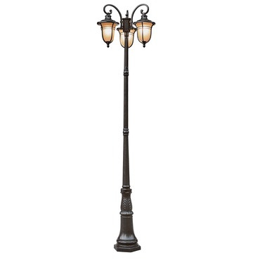 Amber Drop 3 Lantern Lamp Post by Trans Globe | 5707 ROB