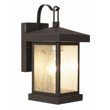 Traditional Seeded Wall Lantern by Trans Globe | 45640 WB