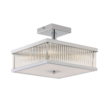 Squared Sunburst Semi Flush Mount Ceiling by Trans Globe | 10160 PC
