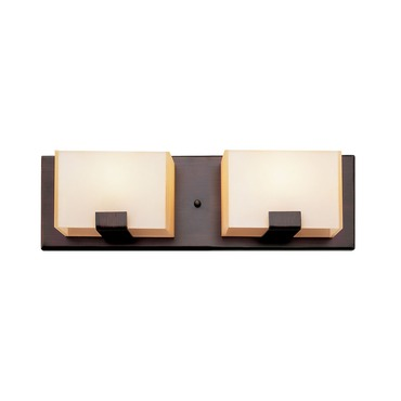 New Cube Halogen 2-Light Bath Bar
