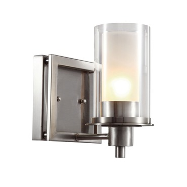 Nickel Square Vanity Light