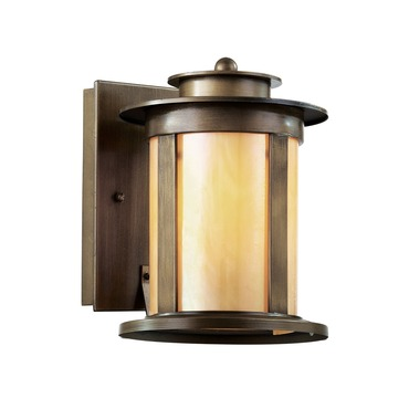 Bronzed Honey Wall Lantern