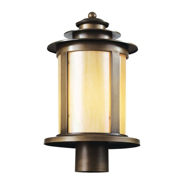 Bronzed Honey Post Lantern
