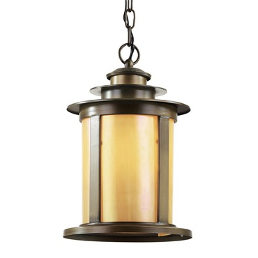 Bronzed Honey Hanging Lantern