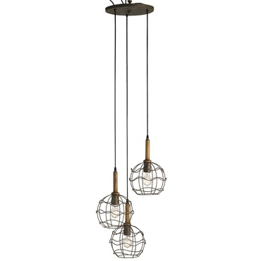 Sibley Trio Pendant by Currey and Company | 9968-CC