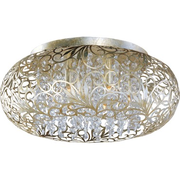 Arabesque Oval Ceiling Flush Light by Maxim Lighting | 24150BCGS