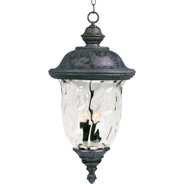 Carriage House Outdoor Hanging Lantern by Maxim Lighting | 40428WGOB