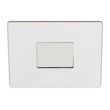 S4151 3 Inch Square Shower Trim With Square Pinhole Opening by Contrast Lighting | S4151-11
