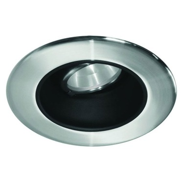 LEDR200 4 IN 12W Very Wide Beam Recessed Adj Trim Black Refl