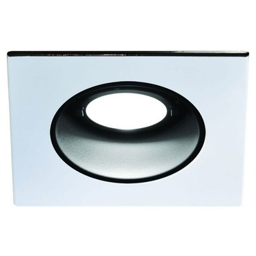 LEDR210 4 IN 12W Very Wide Beam Adj Square Trim Black Reflec