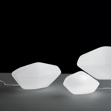 Stone of Glass Table Lamp by Oluce Srl   STONE OF GLASS 202