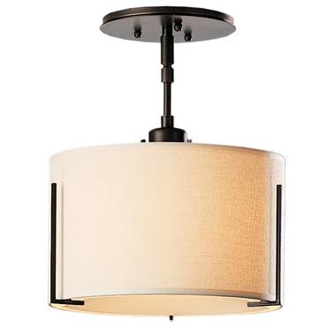 Exos Round Single Shade Semi Flush Ceiling Light by Hubbardton Forge | 126498-1000