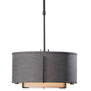 Exos Double Shade Round Small Pendant by Hubbardton Forge | 139602-07L-DAAE