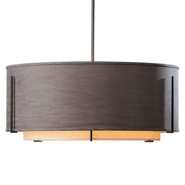 Exos Double Shade Large Round Pendant by Hubbardton Forge | 139610-20-BDCD