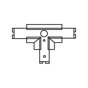 Recessed Track RAH-13 T Connector Housing by ConTech | RAH-13-P
