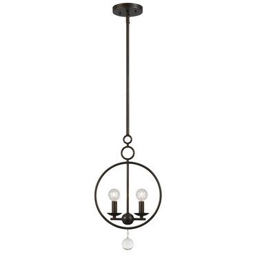 Cameron 2 Light Circle Pendant by Crystorama | 9265-EB