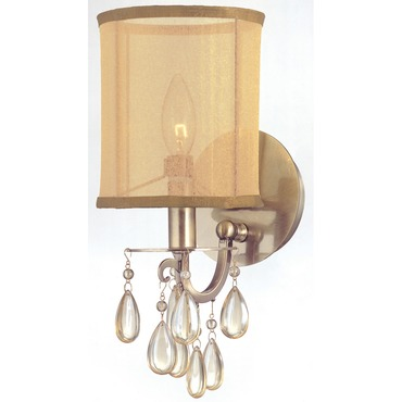 Hampton 1 Light Wall Sconce by Crystorama | 5621-AB