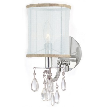 Hampton 1 Light Wall Sconce by Crystorama | 5621-CH