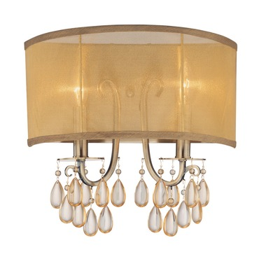 Hampton 2 Light Wall Sconce by Crystorama | 5622-AB