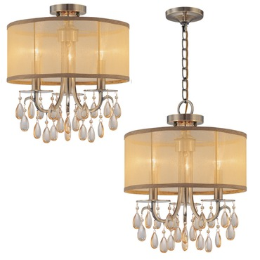 Hampton Convertible Chandelier by Crystorama | 5623-AB