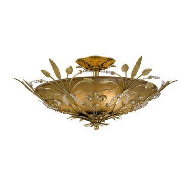 Primrose Semi Flush Ceiling Light by Crystorama | 4704-GL