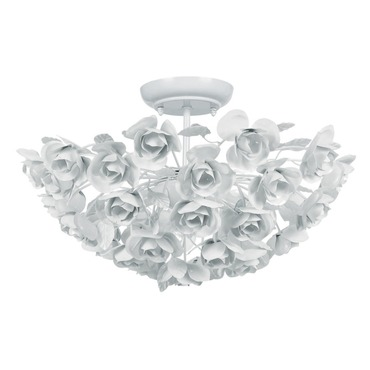 Cypress Semi Flush Mount by Crystorama | 530-WW