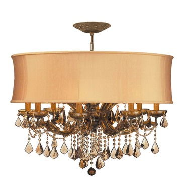Brentwood 12 Light Draped Chandelier by Crystorama | 4489-AB-SHG-GTM