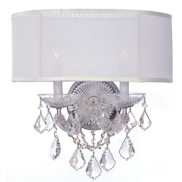 Brentwood Wall Sconce by Crystorama | 4482-CH-SMW-CL-MWP