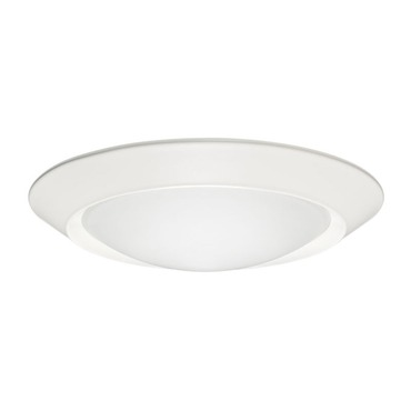 6101 Beveled Frame Frosted Dome Lens Shower Trim by Juno Lighting | 6101-WH