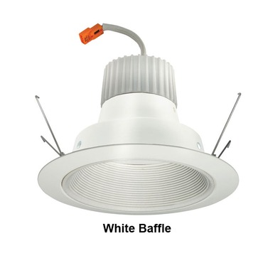J6RLG3 6 Inch 600 Lumen Baffle Retrofit Downlight Trim