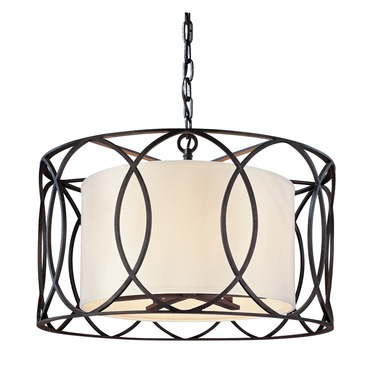 Sausalito Round Pendant by Troy Lighting | F1285DB