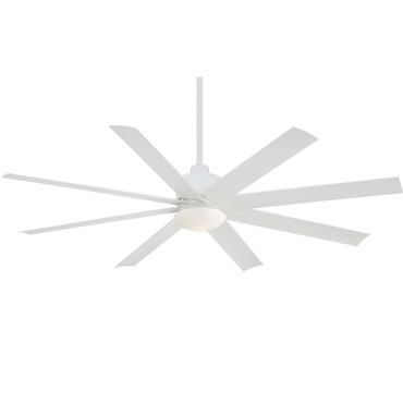 Slipstream Ceiling Fan with Light by Minka Aire | F888-WHF