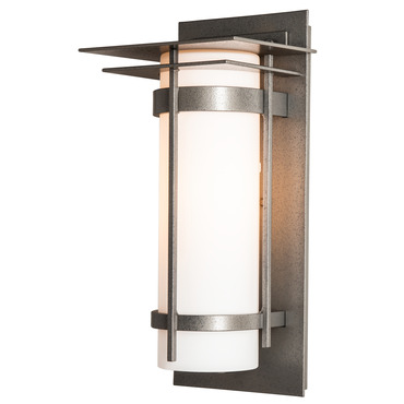 Banded Top Plate Outdoor Wall Light