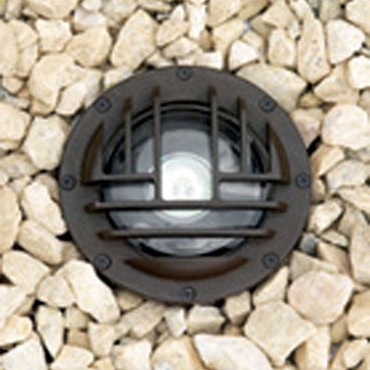 IL116G 4 Watt Narrow Flood LED Inground Uplight w Rock Guard