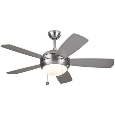 Discus Ceiling Fan with Light by Monte Carlo | 5DI44BSD
