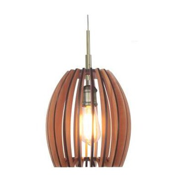 Crescendo Woodwork Pendant by Woodbridge Lighting | 14023CBR-W1E1CH