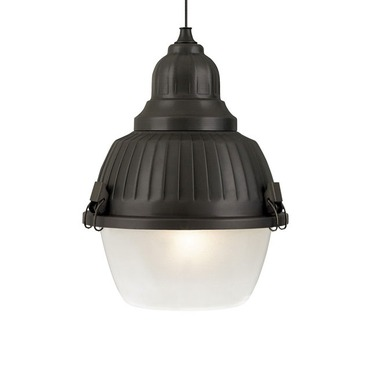 Freejack LED Mini Clybourn Frost Glass Pendant