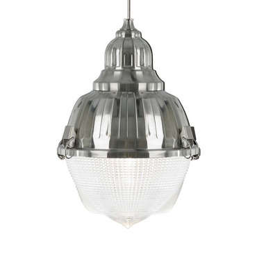 Freejack LED Mini Halsted Prismatic Glass Pendant