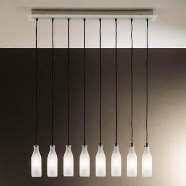 Bottles 8-light Suspension by Lightology Collection | LC-bottles 100/s8