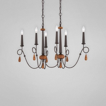 Corso 6 Oval Chandelier by Eurofase | 25592-016