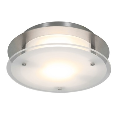 Vision Round Wall or Ceiling Light by Access | 50036-BS/FST
