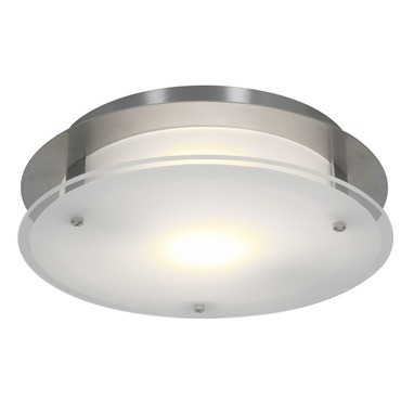Vision Round Wall or Ceiling Light by Access | 50037-BS/FST
