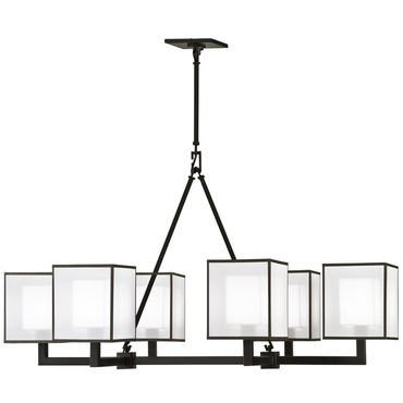 Black and White Story 331440 Chandelier by Fine Art Lamps | 331440-6