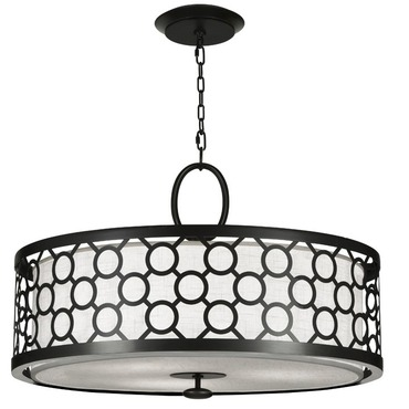 Black and White Story 780140 Round Pendant by Fine Art Lamps | 780140-6