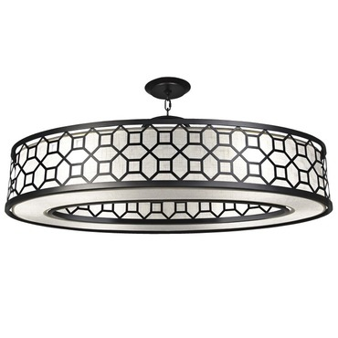 Black and White Story 816640 Oval Pendant by Fine Art Lamps | 816640-6GU
